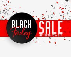 svart fredag försäljning fest banner