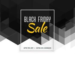 abstrakter schwarzer Freitag kreative Fahnendesign