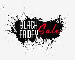 Fondo de salpicaduras de tinta de viernes negro abstracto