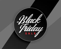 svart fredag försäljning elegant banner design