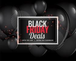 modern black friday deals balloon background