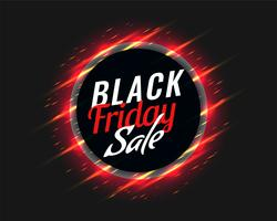 black friday sale background with glowing red streaks