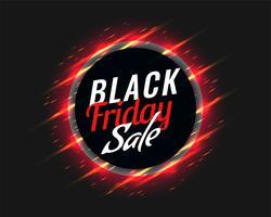 svart fredag försäljning bakgrund med glödande röda streck