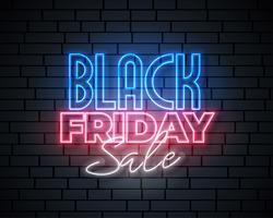 Schwarzer Freitag-Neonverkauf-Fahnendesign