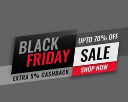 modern svart fredag försäljning banner design
