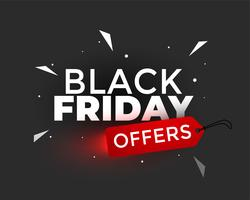 black Friday bietet kreatives Fahnendesign an