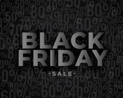 vendita banner design per venerdì nero