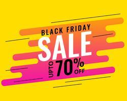 Freitag-Verkaufsfahnenentwurf der modernen Memphis-Art schwarzer