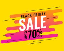 modern memphis style black friday sale banner design