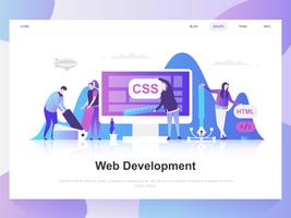 Web development modern flat design concept