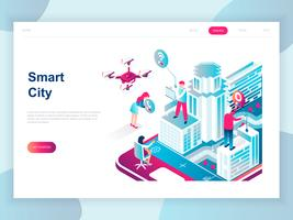 Smart City isometrica moderna