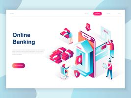 Isometric Online Banking Web Banner