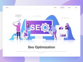 Seo analysis modern flat design concept. Landing page template. Modern flat vector illustration concepts for web page, website and mobile website. Easy to edit and customize.