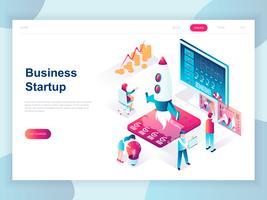 Modern flat design isometric concept of Startup Your Project for banner and website. Isometric landing page template. Launch a new product on a business company. Vector illustration.