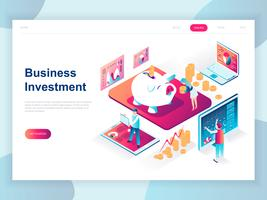 Isometric Business Investment Web Banner