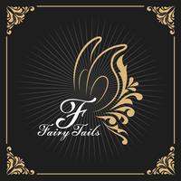 Design décoratif vintage avec logo monogramme et cadre héraldique royal