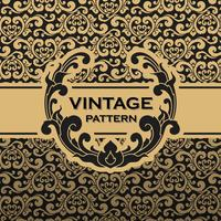 Vintage flourishes vine seamless pattern background