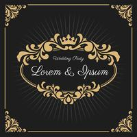 Vintage Luxury Monogram Logo Template vector