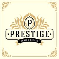 Modello di logo del monogramma di lusso vintage