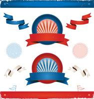 Elections In USA - Ribbons And Banners