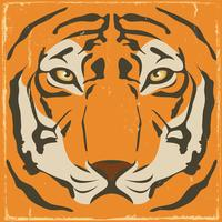Vintage Tiger Stripes On Grunge Background vector
