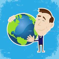 Homme aimant la Terre