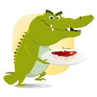 Déjeuner crocodile