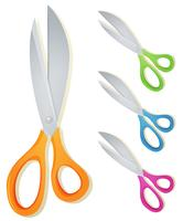 Cartoon Scissors Set