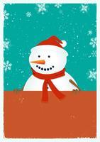 Muñeco de nieve de santa