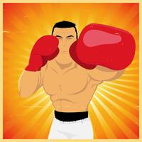Jab izquierdo - Póster boxer grunge vector