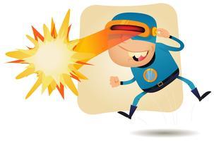 Tête à rayon laser - Super héros de la bande dessinée