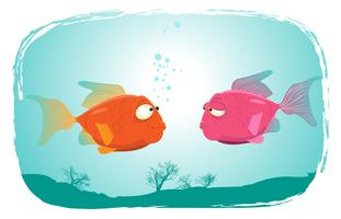 Fishes In Love vector