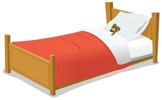 Cartoon Bed met teddybeer