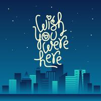 Night City Wish You Were Here Vector