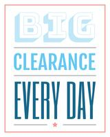 Big Clearance