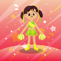 cheerleader cartoon vector