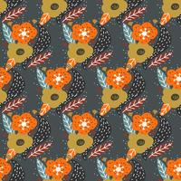 Fall Flower Pattern Vector