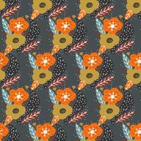 Vector de patrón de flor de otoño