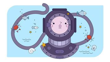 Vettore di immersioni subacquee