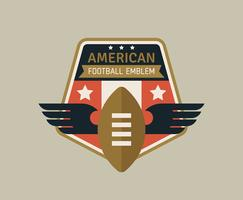 American Football Emblems vector