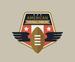 Amerikanische Fußball-Embleme