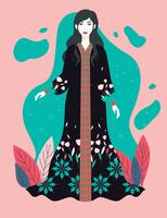 Woman-in-kaftan-vector