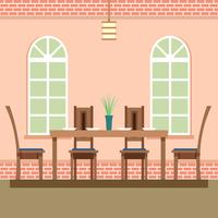Dining Room Cozy Settings Vector