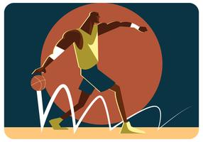 Strong Basketball Player Vector