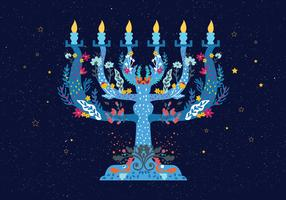 Menorah-Illustrations-Vektor