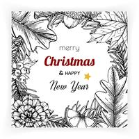 Christmas and New Year backgrounds and greeting card