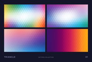 Kleurrijke abstracte driehoeks vector mozaïek achtergronden instellen