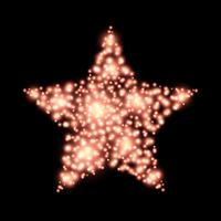 Four-pointed star christmas decoration on black