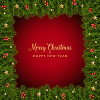 Realistic Christmas fir background