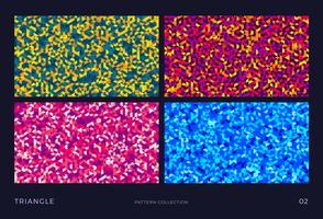 Conjunto de fondos triángulo vector mosaico,